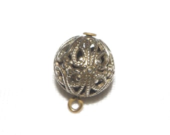 Cricket Cage Filigree Button with Pin Shank