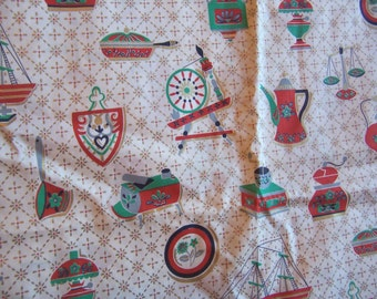 charming kitchy vintage kitchen fabric