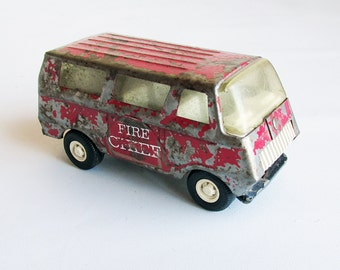 "1960s Tonka Fire Chief Van ""Rare Find"""