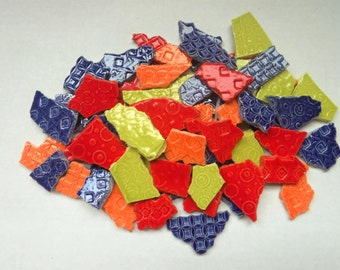 ceramic mosaic tiles handmade-variety of shapes and sizes