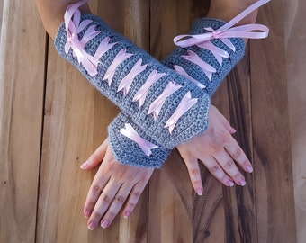 Made-To-Order Corset Fingerless Gloves