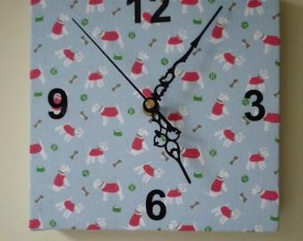 Quartz Clock covered with Cath Kidston Fabric