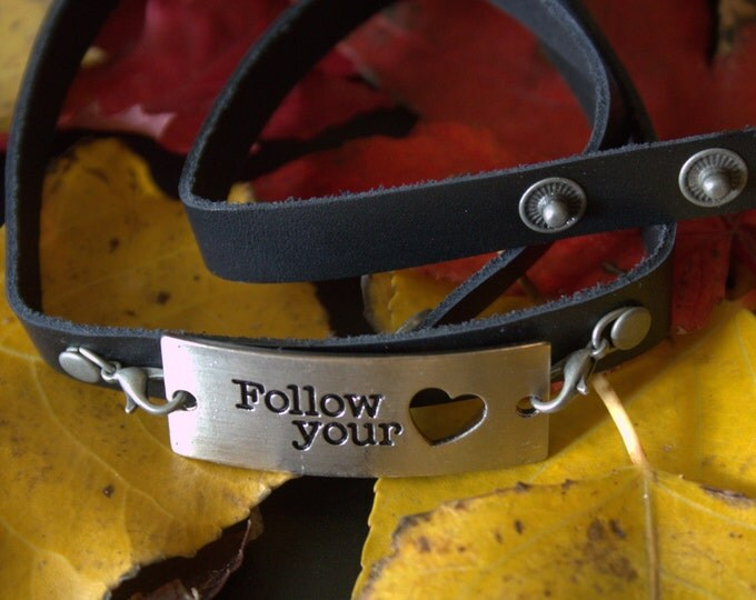 Follow Your Heart Wrap Bracelet
