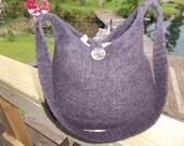 12-1046  Handknitted felted wool purse,tote,handbag fs