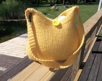 11-1058  Handknitted felted wool purse,tote,handbag fs