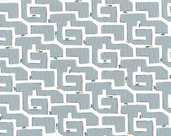 Michael Miller Backyard Baby Ant Maze Fabric - 1 yard