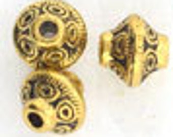 Gold Pewter Bicone Bead