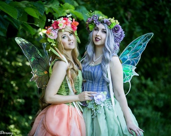 BRAND NEW Silver Night Butterfly Wings Cosplay Metal iridescent Tinkerbell fairy wings ready to ship