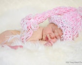 Pink Newborn hat Photo prop Baptism Knit girl hat Newborn Photography prop Pink Newborn girl hat Gift for Girl