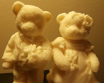 Bride and Groom Teddy Bear Neroli Shea Blossom Wedding Soap