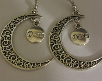 Crescent Moon With A Dream Earrings
