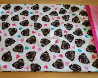 Set of 2 Pug Love pillowcases