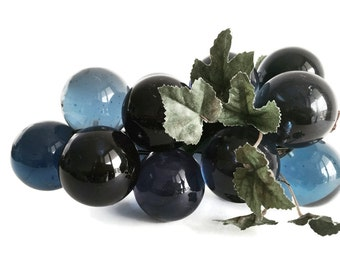Vintage Lucite Grapes Retro Dusty Blue Lucite Bunch of Grape Cluster Retro Decor Riverside Blue Home Decor