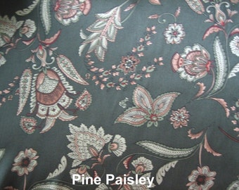 Pine Green Paisley Fabric