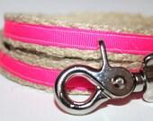 "Pink Dog Leash, 4 ft Dog Leash, 5/8"" Wide Dog Leash, Pet Leash, Girl Dog Leash"