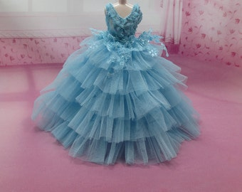 Blythe Outfit Clothing Cloth Fashion handcrafted beads tutu gown dress 956-4