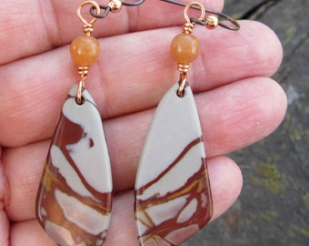 Picture Jasper and Carnelian Earrings