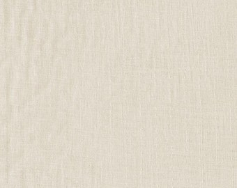 Solid Natural Beige Double Gauze Fabric, Bespoke for Cotton and Steel, Double Gauze in Natural, 1 Yard