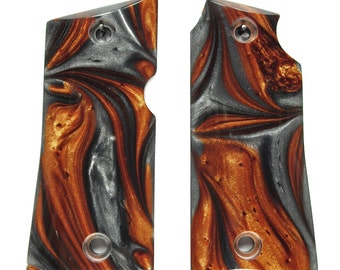 Copper & Silver Pearl Colt Mustang Grips