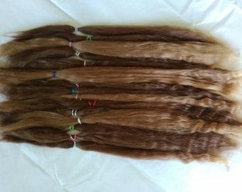 Reborn / BJD / MSD / Combed Doll Hair / Re root / Combed Suri Alpaca / Wig    (227)