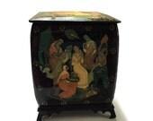 Russian Palekh Lacquer Art Box Russlan Ludmila Fairy Tale Poem by Alexander Pushkin