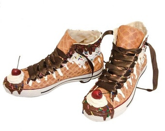 Ice Cream Custom Converse Ice Cream Sundae Shoes As Seen on Talk Stoop