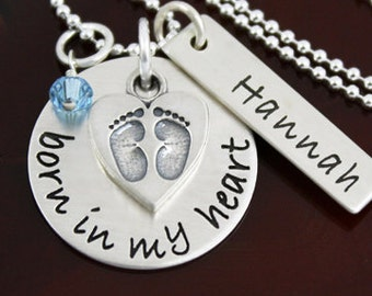 Born in My Heart Adoption Necklace | Adoption Jewelry | Sterling Silver