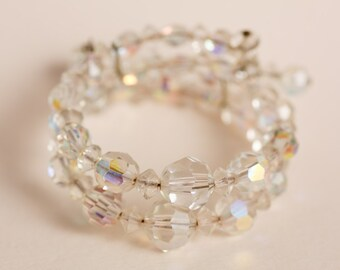 Antique Aurora Borealis Crystal Bracelet
