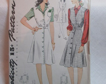 "Antique 1942 Simplicity Pattern #4333 - size 30"" Bust"
