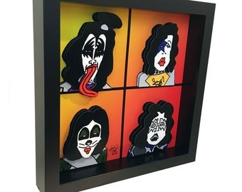 KISS Band Concert Poster 3D Art Rock N' Roll Music Poster Print 3D Pop Art Artwork Gene Simmons