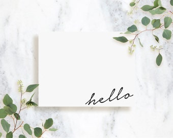 Personalized Note Card Set // Handwritten // Stationery