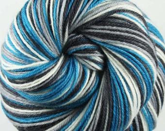 TEAL Superwash Merino/Nylon/Cashmere Self-Striping Fingering Weight Yarn