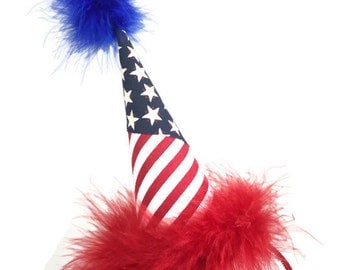 Headband Party Hat, American Party Hat, Fourth of July Hair Accessories
