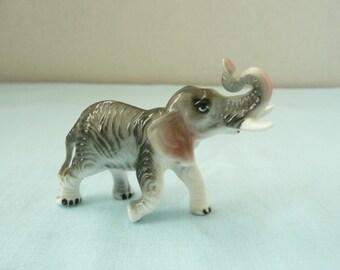 Miniature Bone China Elephant Figurine