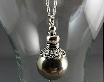 LATE SHIP SALE Gem Pyrite Dowsing Pendulum Necklace, Gemstone Pendulum, Crystal Pendulum, Divination, Intuition, Magic, Scrying, Wicca, Wicc