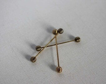 COLLAR BAR - barbell style - screw on ends - honey dipper balls