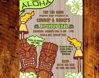 Tiki Party Invitations *Digital Download*
