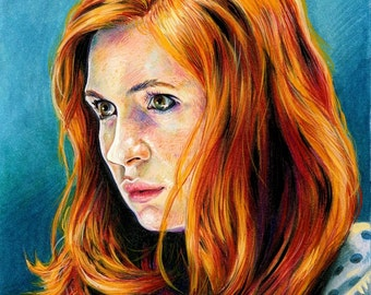 Amy Pond Color Print