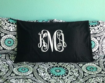 Monogram Pillowcase - Monogrammed Pillow - Personalized Pillow