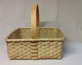 Hand Woven Square  Market Basket, Farmer's Market, Gathermg Basket