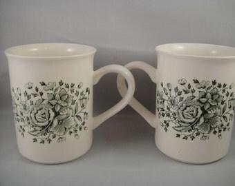 Engish Ironstone Kew Green 2 Coffee Cups