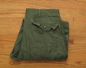 mens vintage Vietnam era sateen utility trousers