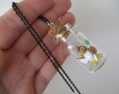 Pokémon Necklace -FARFETCH'D  - Toy in a Bottle - Pokémon Trainer Jewelry