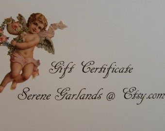 GIFT CERTIFICATE, Gift Card, E-Card, Gift Idea, Valentine's Day, Birthday, Anniversary, Bridal Gift