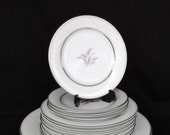 Vintage Noritake China Crest 14 Piece Dinnerware Plates #5421 Beautiful Table Setting