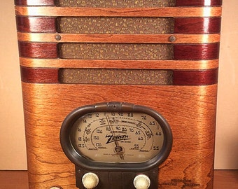 "ZENITH Model 5S-327 ""RACETRACK"" Art Deco Radio (1937)"