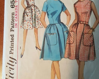 Simplicity Pattern 5874 Miss size 14 bust 34 Junior's and Misses' one-piece dress pattern (P173)