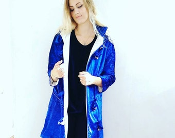 Velvet Duffle Coat