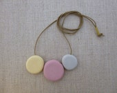 3 Pebble Porcelain Necklace SALE