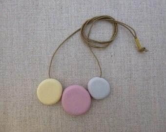 3 Pebble Porcelain Necklace SALE